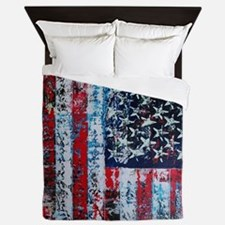 In God We Trust Vertical Queen Duvet