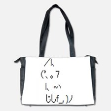 Text cat Diaper Bag