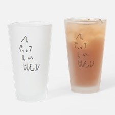 Text cat Drinking Glass