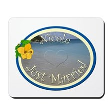 Nicole Just Married Mousepad
