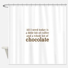 Lot of Chocolate Shower Curtain
