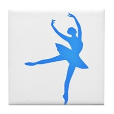 Blue Ballerina Tile Coaster
