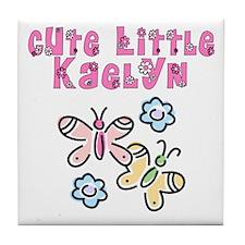 Cute Little Kaelyn Tile Coaster