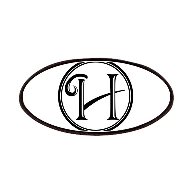 Letter H Circle Monogram Patch by Admin_CP8145757