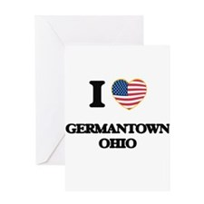 I love Germantown Ohio Greeting Cards