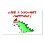 DINO-MITE CHRISTMAS Rectangle Sticker