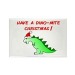 DINO-MITE CHRISTMAS Rectangle Magnet (100 pack)
