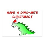 DINO-MITE CHRISTMAS Postcards (Package of 8)