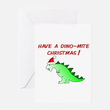 DINO-MITE CHRISTMAS Greeting Card