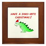 DINO-MITE CHRISTMAS Framed Tile