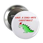 DINO-MITE CHRISTMAS Button