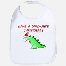 DINO-MITE CHRISTMAS Bib