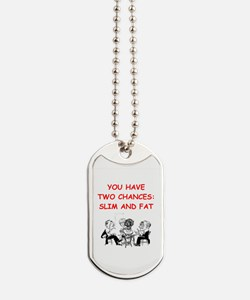 a funny bridge joke on gifts and t-shirts. Dog Tag