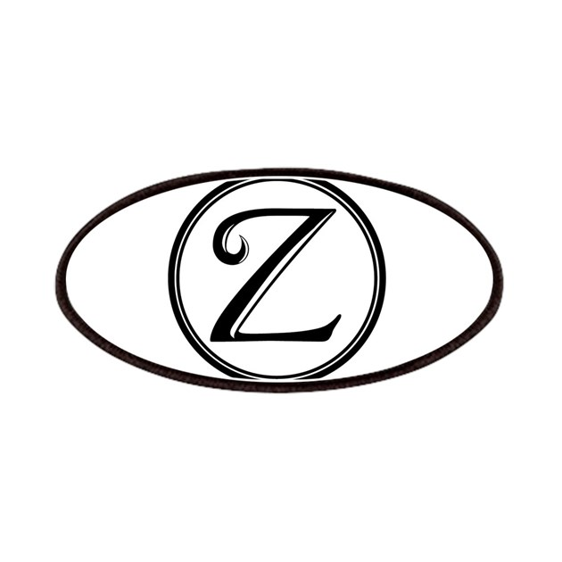 Letter Z Circle Monogram Patch by Admin_CP8145757