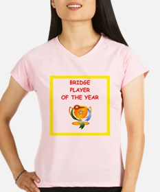 a funny bridge joke on gifts and t-shirts. Perform