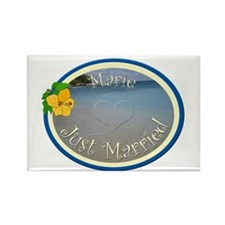 Marie Just Married Rectangle Magnet