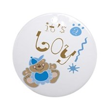 It's A Boy! Ornament (Round)