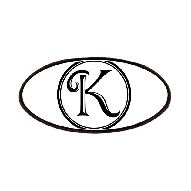Letter K Circle Monogram Patch by Admin_CP8145757