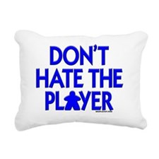 Don't Hate the Player Rectangular Canvas Pillow