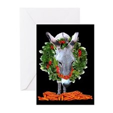 CARROTS ARE GOOD AT CHRISTMAS Greeting Cards (Pack