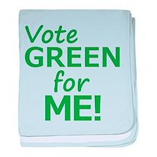 Vote Green 4 Me baby blanket