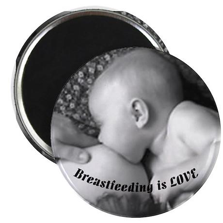 """Breastfeeding is LOVE 2.25"""" Magnet (100 pack)"""