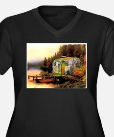 Airstream camping Plus Size T-Shirt