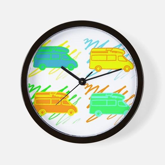 3-colorvans copy.jpg Wall Clock