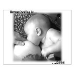 Breastfeeding is LOVE Small Poster