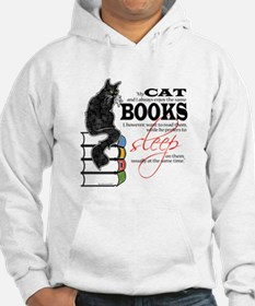 Cat and Books 2 Hoodie