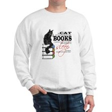 Cat and Books 2 Sweatshirt