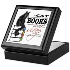Cat and Books 2 Keepsake Box