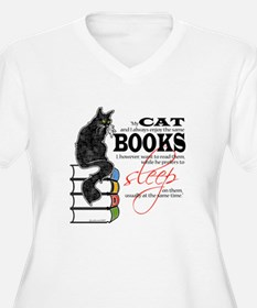 Cat and Books 2 T-Shirt