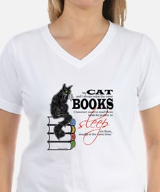 Cat and Books 2 Shirt