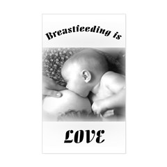 Breastfeeding is LOVE Rectangle Decal