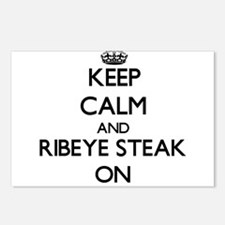 Keep Calm and Ribeye Stea Postcards (Package of 8)