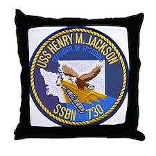 USS HENRY M. JACKSON Throw Pillow