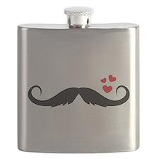 mustache love Flask