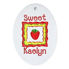 Sweet Kaelyn Oval Ornament