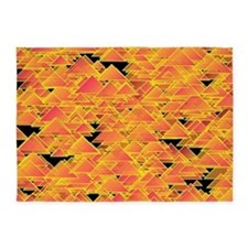 Tiny salmon triangles 5'x7'Area Rug