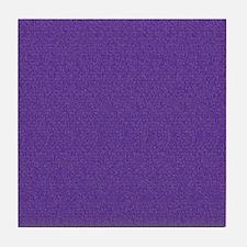 Solid Purple Glimmer Tile Coaster