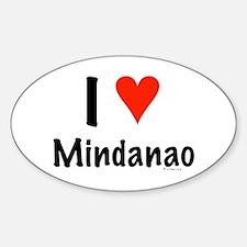 I love Mindanao Oval Decal