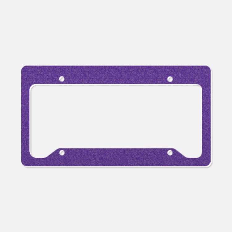 Solid Purple Glimmer License Plate Holder