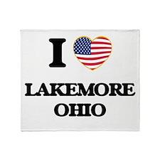 I love Lakemore Ohio Throw Blanket