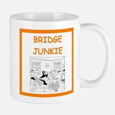 a funny bridge joke on gifts and t-shirts. Mugs