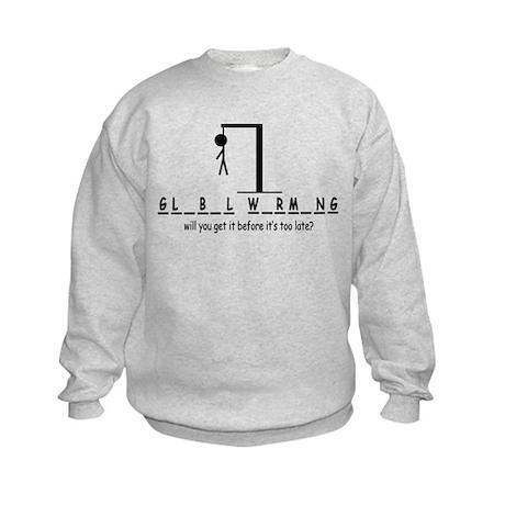 Global Warming Kids Sweatshirt