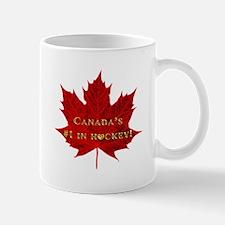Canadas #1 in Hockey with Gold Heart-Maple Leaf Mu