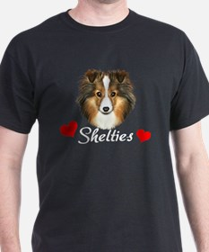 Unique Sheltie art T-Shirt