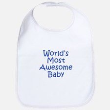 World s Most Awesome Baby-Kri blue 300 Bib