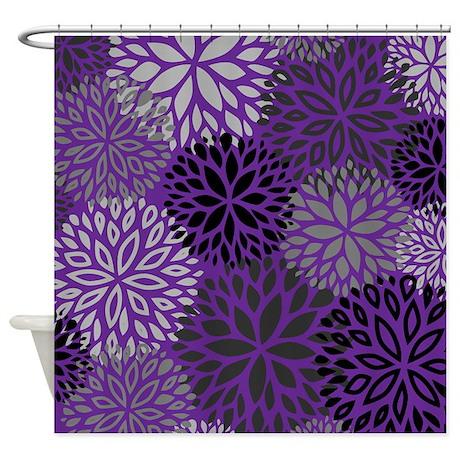 vintage floral pattern purple shower curtain by admin cp1053336. Black Bedroom Furniture Sets. Home Design Ideas